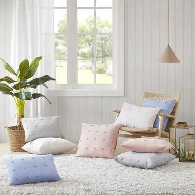 Aiden Cotton Jacquard Pom Pom Lumbar Pillow - AllModern