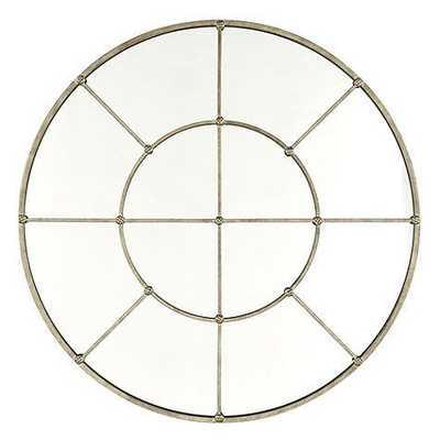 "Grand Palais Round Mirror - 36"" - Antique Silver - Ballard Designs"