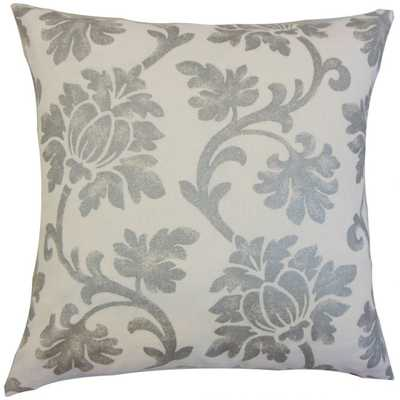 Patrice Floral Pillow - 20x20, With down Insert - Linen & Seam