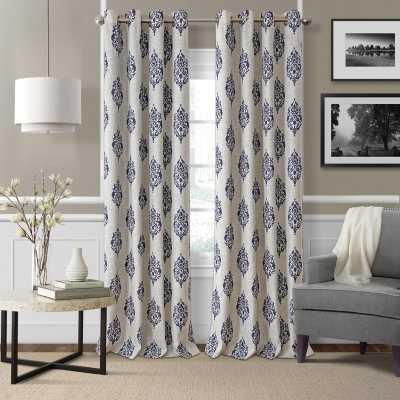 Atticus Ikat Room Darkening Thermal Grommet Single Curtain Panel - Wayfair