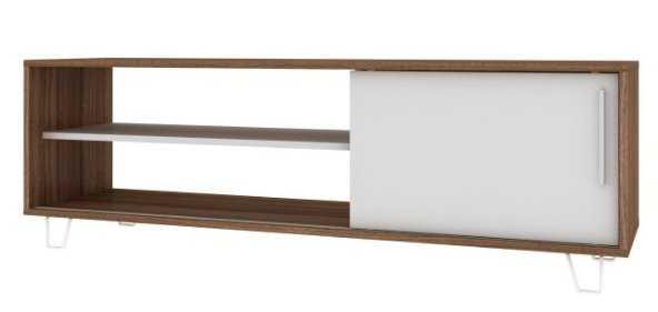 Manhattan Comfort Boden Mid-Century/Modern TV Stand - Oak/White - Hayneedle