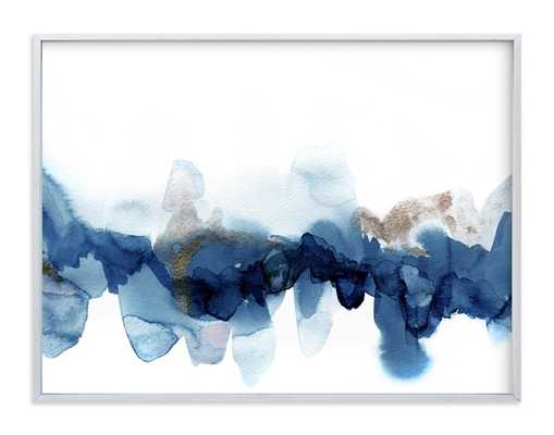 Fractured Horizon 1 - 40x30 - Indigo - Minted