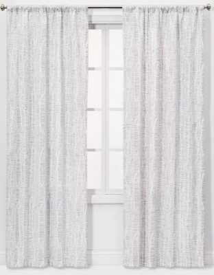 """2pc 84""""x40"""" Dashes Light Filtering Window Curtain Panels Gray - Project 62™ - Target"""