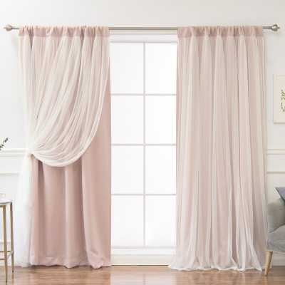 Harborcreek Solid Blackout Thermal Rod Pocket Curtains (Set of 2)_Dusty Pink - Wayfair
