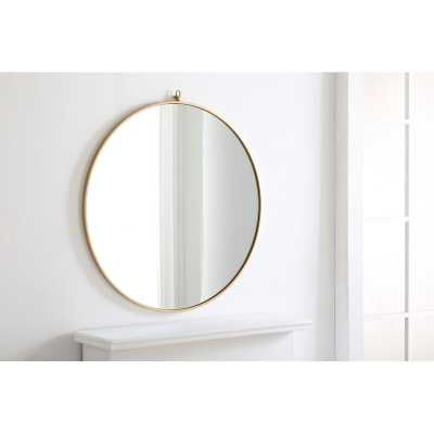 "Yedinak Modern Distressed Accent Mirror-32"" - Wayfair"