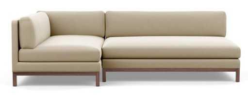 JASPER Short Left Chaise Sectional Sofa - Drift - Interior Define