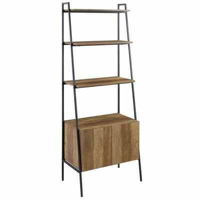 Caldwell Metal and Wood Ladder Bookcase- Reclaimed Barnwood - Wayfair