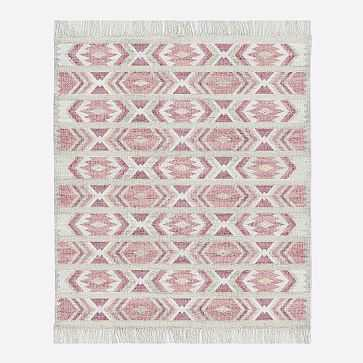 MTO Campo Rug, Macaroon Pink, 9x12 - West Elm