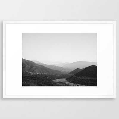 Black and white Atlas Mountains of Ourika Morocco Framed Art Print - Society6