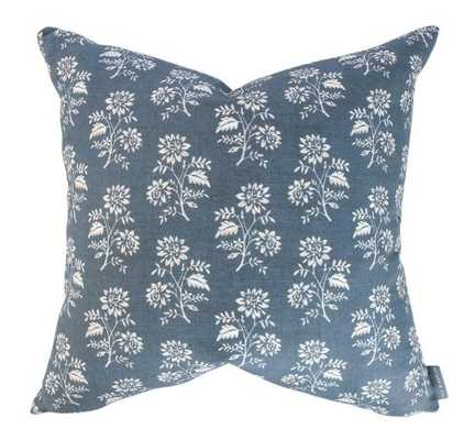 CAMILLE NAVY FLORAL PILLOW COVER - McGee & Co.