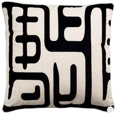 "Black/White Maize Throw Pillows 2 Pack - & - (24""x24"") - Safavieh - Target"