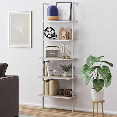 Moskowitz Ladder Bookcase, White/Gray - CB2