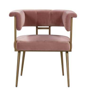 Nicole Blush Velvet Chair - Maren Home