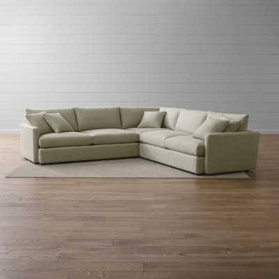 Lounge II 3-Piece Sectional Sofa - Taft Cement - Crate and Barrel