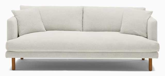 Lewis Sofa in Tussah Blizzard, Mocha and Cone Legs - Joybird