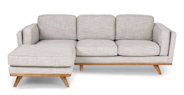 Timber Rain Cloud Gray Left Sectional - Article