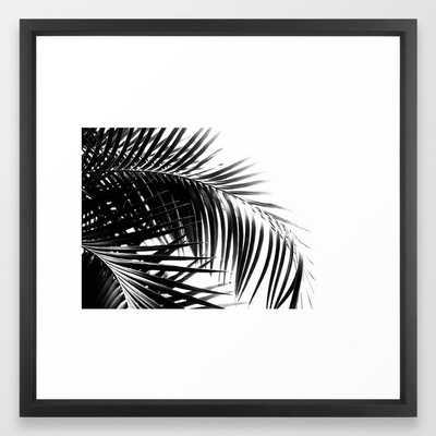 Palm Leaves Black & White Vibes #3 #tropical #decor #art #society6 Framed Art Print - Society6