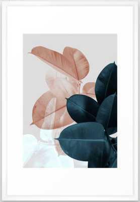 Blush & Blue Leaves Art Print - Society6