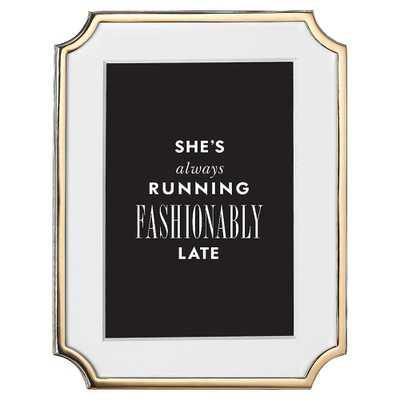"Lenox Kate Spade New York Sullivan Street Gold 8"" x 10"" Photo Frame - Kathy Kuo Home"