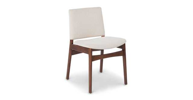 Nosh Chalk Gray Walnut Dining Chair - Article