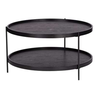 Verlington Round Farmhouse Style Cocktail Table - Wayfair
