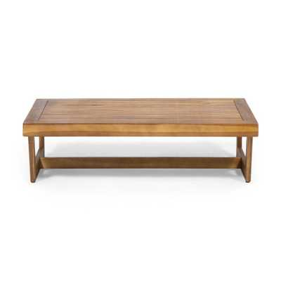 Pekalongan Outdoor Acacia Wood Coffee Table - gray - Wayfair