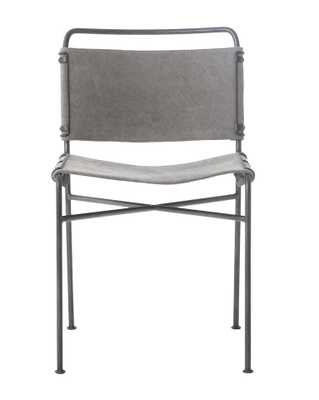MOORE CHAIR, STONEWASH GRAY - McGee & Co.
