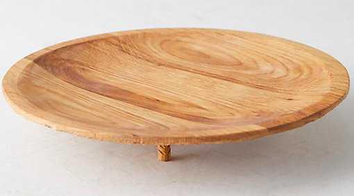 Footed Round Oak Platter - shopterrain.com