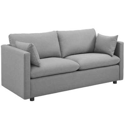 ACTIVATE UPHOLSTERED FABRIC SOFA IN LIGHT GRAY - Modway Furniture