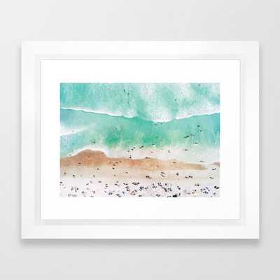 "Beach Mood - 10"" x 12"" - vector white - Society6"