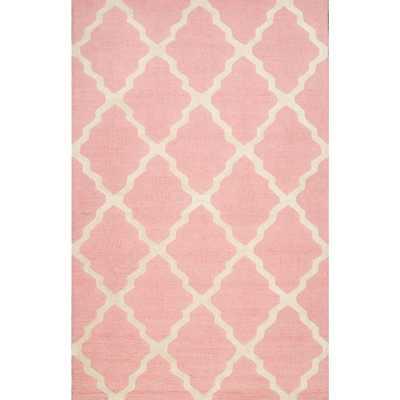 Trellis Baby Pink 5 ft. x 8 ft. Area Rug - Home Depot