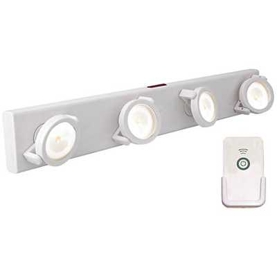 LED Battery Powered White Light Bar with Remote - Lamps Plus