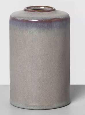 "6"" Ceramic Vase Jet Gray - Hearth & Hand™ with Magnolia - Target"
