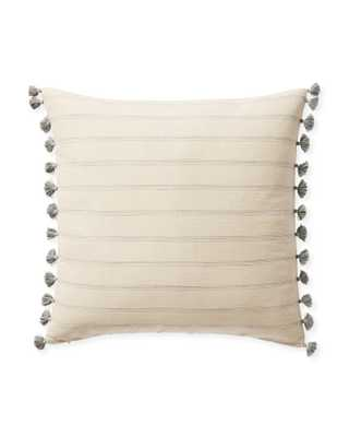 "Alsworth 22"" SQ Pillow Cover - Fog - Insert sold separately - Serena and Lily"