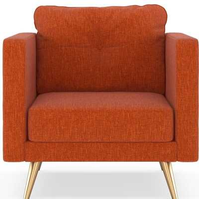 Croley Armchair-POPPY- BRASS - Wayfair