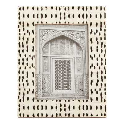 Black And White Abstract Dots Bone Frame - World Market/Cost Plus