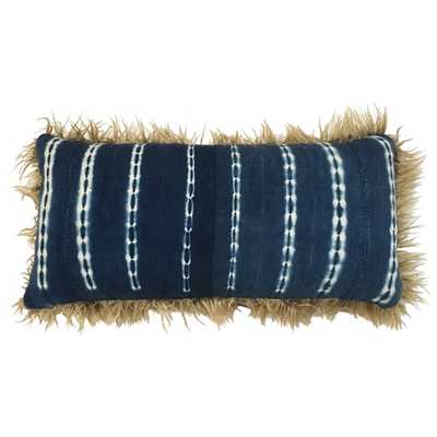 Taliba Indigo Mudcloth - Lumbar pillow - Lulu and Georgia