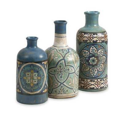 Kabir Hand-painted Bottles - Mercer Collection