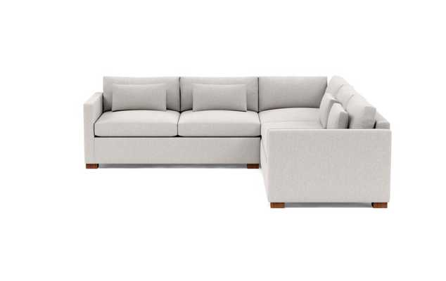 Charly Corner Sectional Sofa-Pebble Heathered Weave - Interior Define