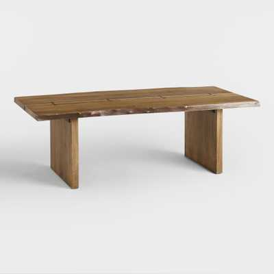 Wood Maleya Live Edge Coffee Table: Brown by World Market - World Market/Cost Plus