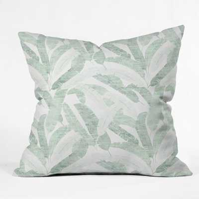 "BANANA LEAF LIGHT Throw Pillow - 20"" x 20"" - Pillow Cover Only - Wander Print Co."