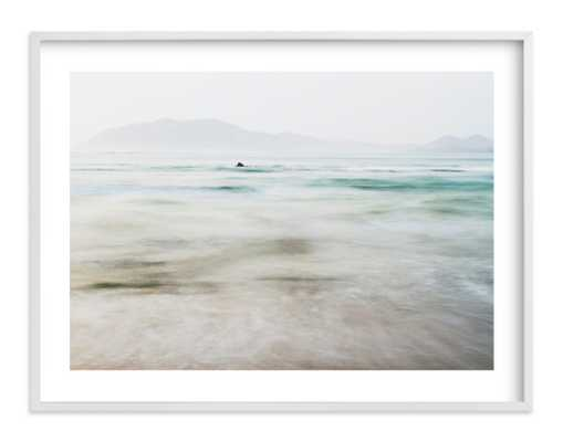 "The Pacific - 40"" x 30"" - Standard Plexi & Materials - White Border - White wood frame .75"" Art Print Frame - Minted"