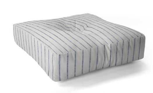 Aegean Wide Stripe Floor Pillow Square - Wander Print Co.