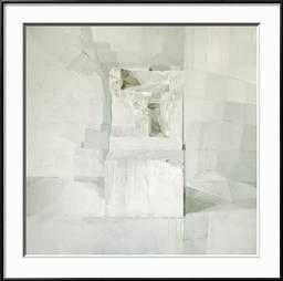 """WHITE -Framed art Print- Ronda Black Frame- 30"""" x 30"""" - art.com"""