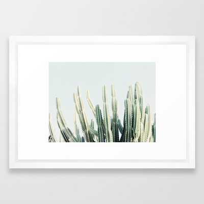 Deser, 15x21, Vector White Frame - Society6