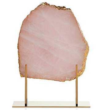 Rose Quartz Slab On Stand - Z Gallerie