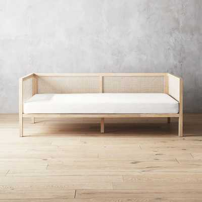 Boho Natural Daybed with Pearl White Mattress Cover - CB2
