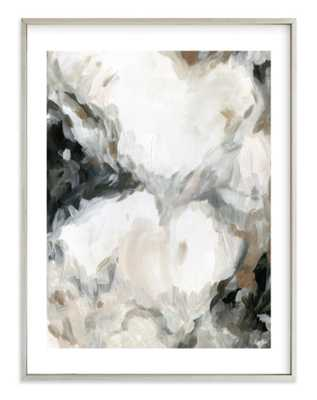 "mesmerize  - 30"" x 40"" - champagne silver frame with border - Minted"