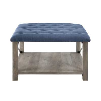 "Grube 30"" Tufted Square Cocktail with Storage Ottoman - Wayfair"