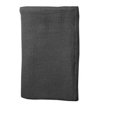 The Company Store Cotton Weave Slate Gray King Blanket - Home Depot